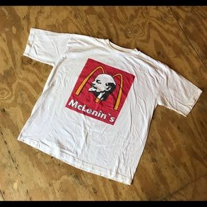 Lenin party's over political Russian vintage shirt